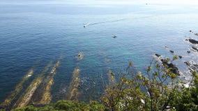Marche autour du bord de la mer en été Photos stock