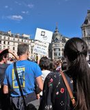 Marche for the climate - Ecological demonstration. Paris France Saturday, September 08th, 2018. Stock Photo