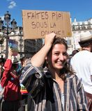 Marche for the climate - Ecological demonstration. Paris France Saturday, September 08th, 2018. Royalty Free Stock Image