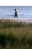 Marche d'exercice de plage Photographie stock libre de droits