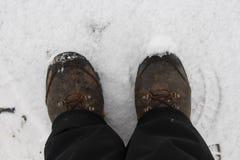 Marche d'hiver Images stock