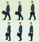 Marche d'homme d'affaires illustration de vecteur