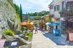 Marche dans la vieille ville Image stock