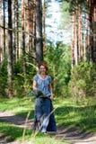 Marche dans le bois Photographie stock