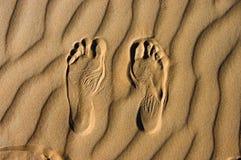 Marche dans le désert Image libre de droits