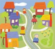Marche dans le voisinage Photo libre de droits