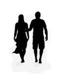 Marche de couples Photo libre de droits