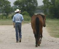 Marche de cowboy Photographie stock libre de droits