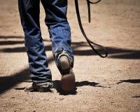 Marche de cowboy Images libres de droits