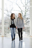 Marche de deux filles Images libres de droits