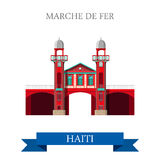 Marche de Fer in Haiti vector illustration. Flat c Royalty Free Stock Image
