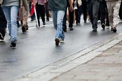 Marche de foule Photo libre de droits