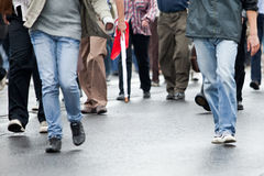 Marche de foule Photographie stock libre de droits