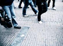 Marche de gens Images libres de droits
