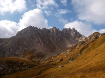 Marche de montagne Passo Colombe e Passo del Sole Image stock