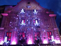 Marche De Noel. Decoration during Christmas market in Strasbourg royalty free stock photo