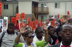 Marche de paix pour Michael Brown Photographie stock libre de droits