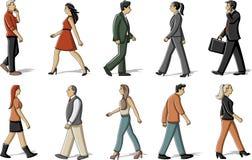 Marche de personnes illustration de vecteur