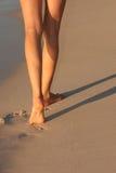 marche de plage Photo libre de droits