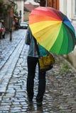 marche de pluie images stock