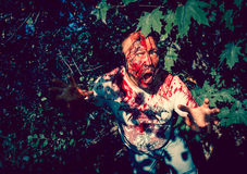 Marche de zombi Photographie stock