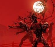 Marche de zombis Photographie stock