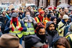 Marche derrama a demonstração do protesto do março de Le Climat no stre francês imagem de stock royalty free
