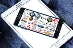 Marche e logos dell'automobile Fotografia Stock Libera da Diritti