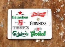 Marche e logos della birra Immagini Stock Libere da Diritti