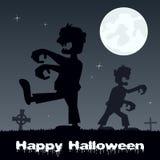 Marche et cimetière de zombis de Halloween Photos stock