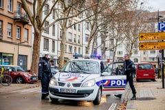 Marche giet het protestdemonstratie van Le Climat maart op Franse stre stock foto