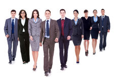 Marche heureuse réussie d'équipe d'affaires Photo stock