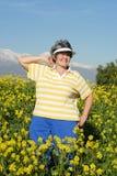 Marche heureusement Image stock