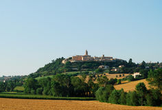 Marche landscape. Region between Montecassiano and Macerata (Marche, Italy) - Landscape at summer Royalty Free Stock Photos
