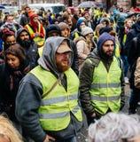 Marche Nalewa Le Climat marszu protesta demonstrację na Francuskim stre zdjęcie royalty free