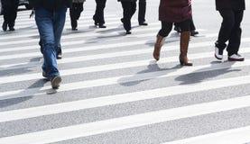 Marche occupée Photo stock