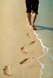 Marche par la mer Photos libres de droits