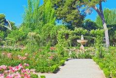 Marche par le parc de Buen Retiro Rose Park Image stock
