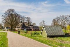 Marche par Overijssel aux Pays-Bas images stock