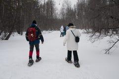 Marche sur la neige Photographie stock
