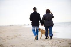 Marche sur la plage Photographie stock