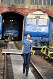 Marche sur le chemin de fer Photo stock