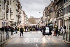 Marche vierte la demostración de la protesta de la marcha de Le Climat en stre francés imágenes de archivo libres de regalías