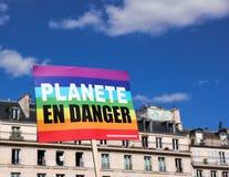Marche voor het klimaat - Ecologische demonstratie De Zaterdag van Parijs Frankrijk, 08 September, 2018 stock afbeelding