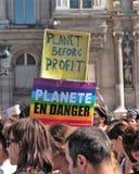 Marche voor het klimaat - Ecologische demonstratie De Zaterdag van Parijs Frankrijk, 08 September, 2018 stock afbeeldingen