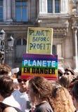 Marche voor het klimaat - Ecologische demonstratie De Zaterdag van Parijs Frankrijk, 08 September, 2018 stock fotografie
