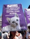 Marche voor het klimaat - Ecologische demonstratie De Zaterdag van Parijs Frankrijk, 08 September, 2018 stock foto's