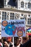 Marche voor het klimaat - Ecologische demonstratie De Zaterdag van Parijs Frankrijk, 08 September, 2018 royalty-vrije stock foto