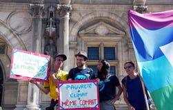 Marche voor het klimaat - Ecologische demonstratie De Zaterdag van Parijs, 08 September, 2018 royalty-vrije stock fotografie