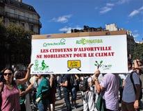 Marche voor het klimaat - Ecologische demonstratie De Zaterdag van Parijs, 08 September, 2018 royalty-vrije stock foto's